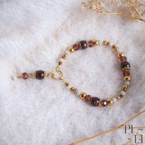 2/60$ bracelet natural garnet gemstones